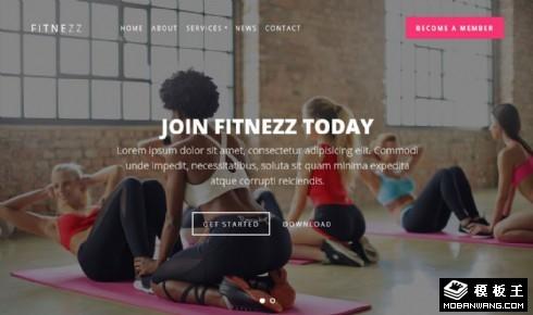 健身课程服务展示响应式网站模板
