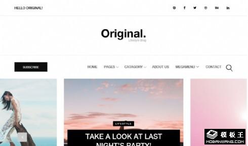时尚生活日志响应式网站模板