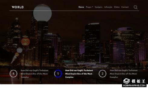 综合世界新闻动态响应式网站模板