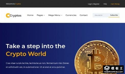 加密货币计算响应式网站模板