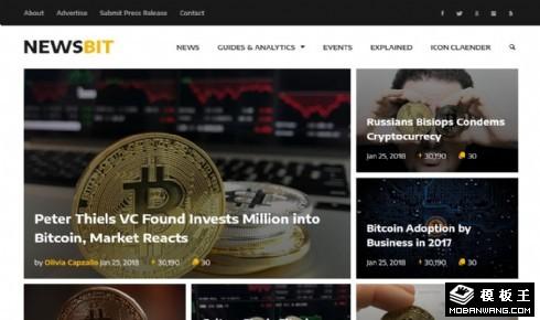 加密货币新闻动态响应式网站模板
