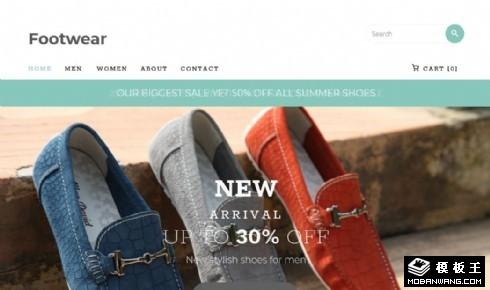 鞋靴品类商城响应式网站模板