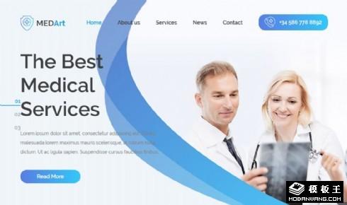 医疗机构项目服务响应式网站模板