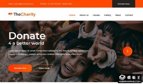 慈善捐赠活动展示响应式网站模板