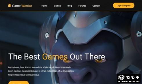 勇士游戏展示响应式网站模板