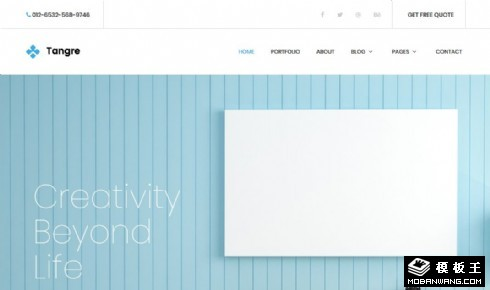 创意家居展示动态响应式网站模板