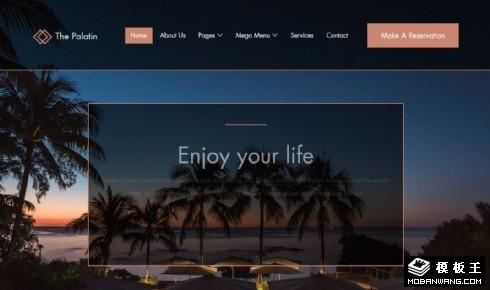 休闲度假预订服务响应式网站乐虎国际手机