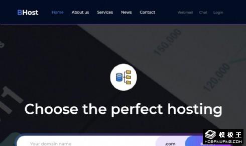 网络服务器服务展示响应式网站模板