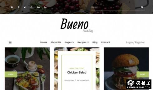 有机精致美食日志响应式网站模板
