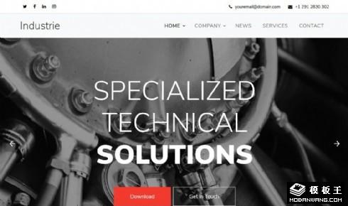 工业科技生产响应式网站乐虎国际手机