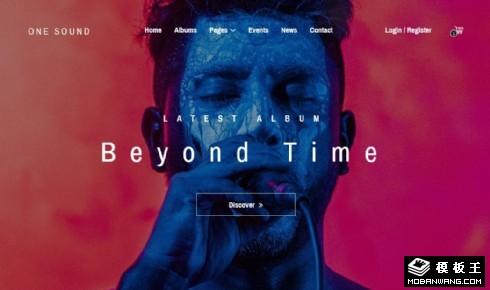 音乐交易展示响应式网站模板