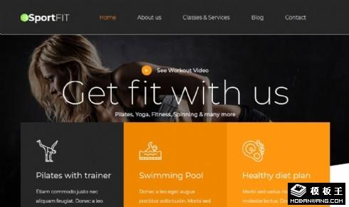 运动健身展示响应式网站乐虎国际手机