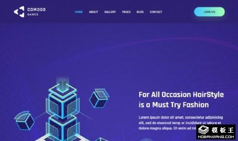 3D游戏制作展示响应式网站模板