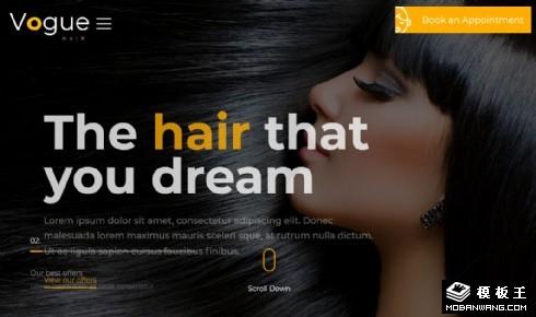 时尚创意美发展示响应式网站模板