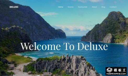 高级旅行体验动态响应式网页模板