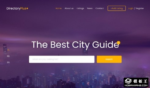 城市美食指南响应式网页模板