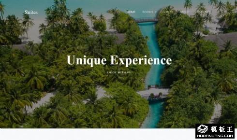 海景套房酒店展示响应式网页模板