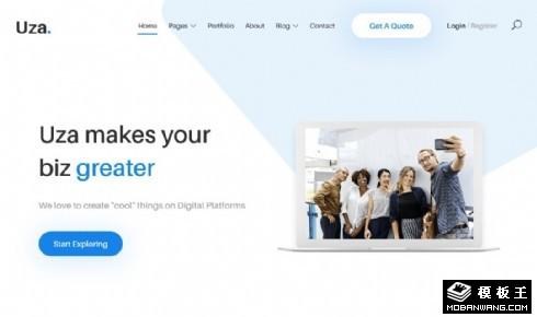 企业营销服务展示响应式网站模板