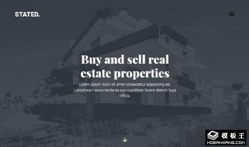 房产交易推荐响应式网站模板