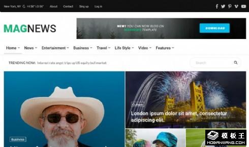新闻门户展示响应式网页模板