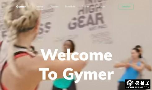 运动健身课程展示响应式网页模板