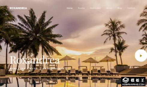 度假酒店服务动态响应式网页模板