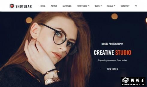 创意摄影服务展示响应式网页模板