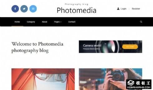 摄影媒体展示响应式网页模板