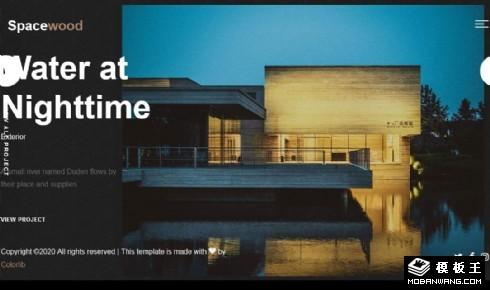 水榭美术馆展示响应式网页模板