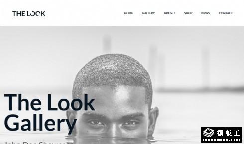 景观画廊展示响应式网页模板