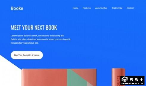 书籍推荐介绍响应式网页模板