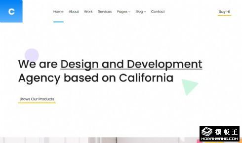 用户体验设计机构响应式网站模板