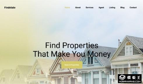 房产展示投资响应式网页模板