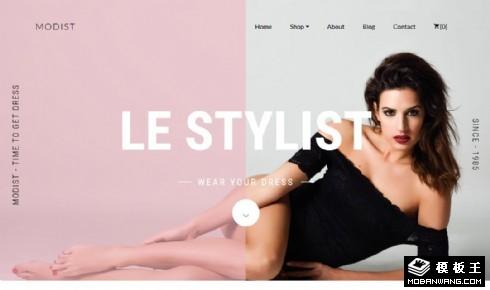 模特工作项目展示响应式网页模板