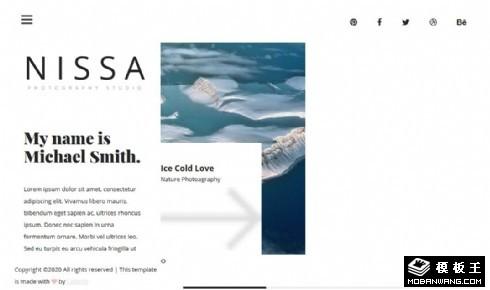 摄影团队简介展示响应式网页模板