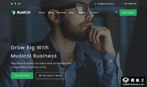 音乐播放服务产品响应式网页模板