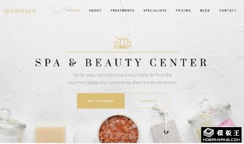 SPA美容按摩展示响应式网页模板