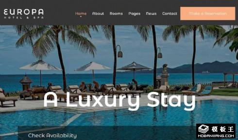 度假酒店预订服务响应式网页模板