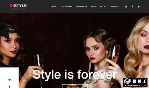 时尚前卫品牌展示响应式网页模板