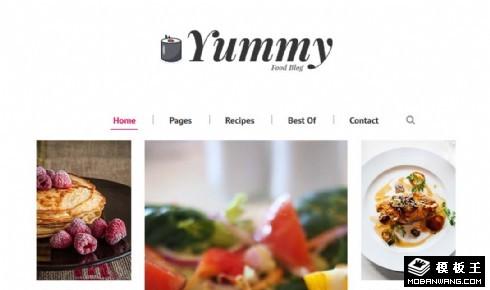 美食制作日志响应式网站模板