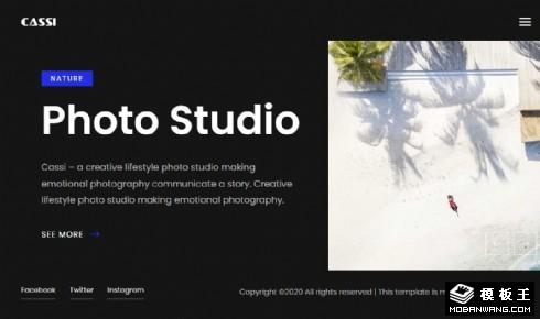 卡西摄影工作室响应式网页模板