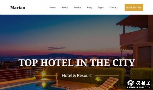 城市顶级酒店展示响应式网站模板