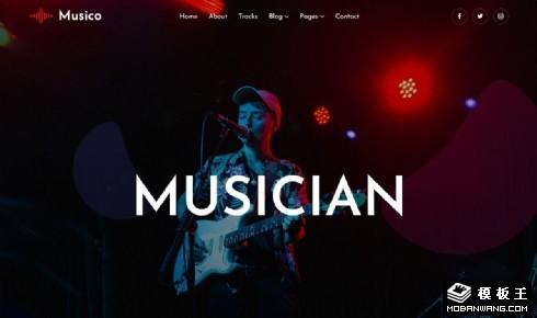 乐队单曲发布响应式网页模板