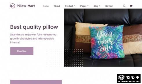 枕头产品展示响应式网页模板