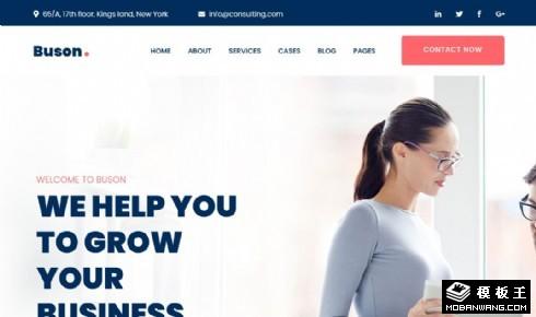 商务咨询业务展示响应式网页模板