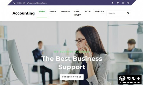 财务服务企业响应式网站模板