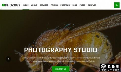 摄影作品图库响应式网页模板
