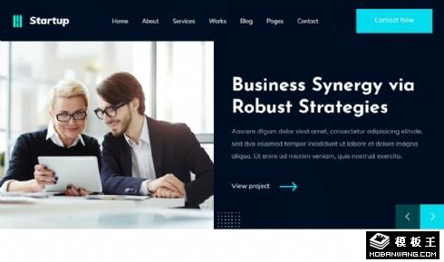 创新商务公司展示响应式网页模板