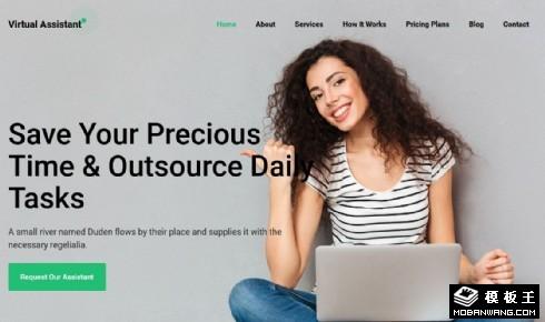 虚拟助手服务响应式网页模板