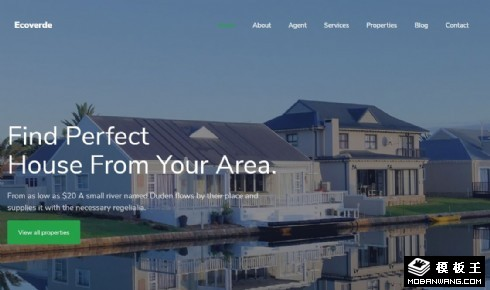 房产地段户型展示响应式网站模板
